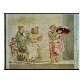 The Street Musicians, c.100 BC Poster