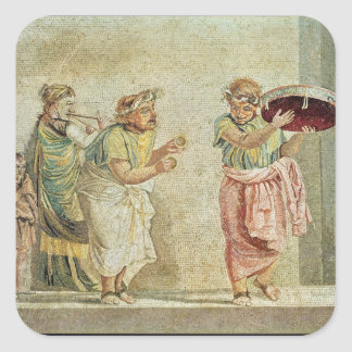 The Street Musicians, c.100 BC Square Sticker