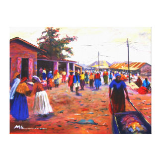 THE STREET OF AFRICA BY MOJISOLA A GBADAMOSI OKUBU CANVAS PRINT