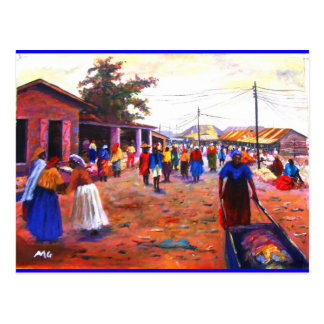 THE STREET OF AFRICA BY MOJISOLA A GBADAMOSI OKUBU POSTCARD