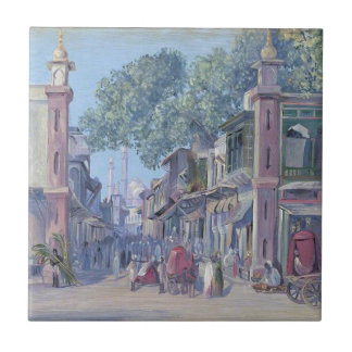 The Street of Blood, Delhi by Marianne North Tile