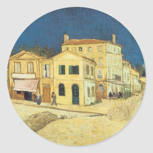 The Street, The Yellow House Classic Round Sticker