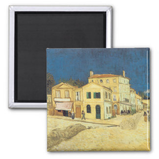 The Street, The Yellow House 2 Inch Square Magnet
