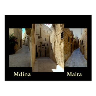 The streets of Mdina Post Cards