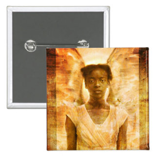 The Strength of Angels 2 Inch Square Button