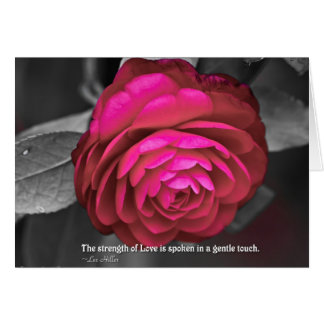 The strength of Love is spoken... Greeting Card