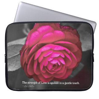 The strength of Love is spoken... Laptop Sleeve