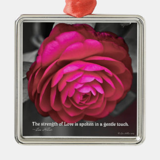 The strength of Love is spoken... Metal Ornament