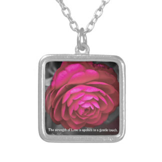 The strength of Love is spoken... Silver Plated Necklace