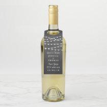 The String Lights On Chalkboard Wedding Collection Bottle Hanger Tag