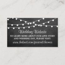 The String Lights On Chalkboard Wedding Collection Enclosure Card