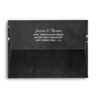 The String Lights On Chalkboard Wedding Collection Envelope