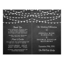 The String Lights On Chalkboard Wedding Collection Flyer