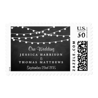 The String Lights On Chalkboard Wedding Collection Postage