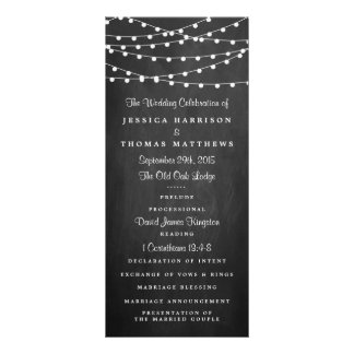 The String Lights On Chalkboard Wedding Collection Rack Card
