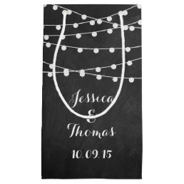 The String Lights On Chalkboard Wedding Collection Small Gift Bag