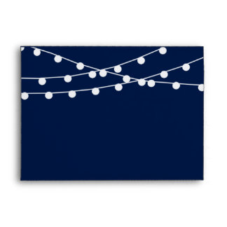 The String Lights On Navy Blue Wedding Collection Envelope
