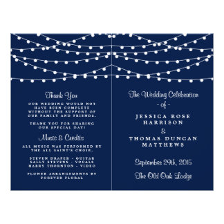 The String Lights On Navy Blue Wedding Collection Flyer