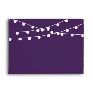 The String Lights On Purple Wedding Collection Envelope