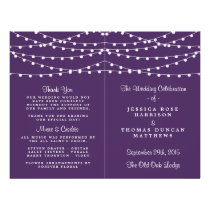 The String Lights On Purple Wedding Collection Flyer