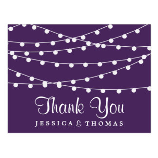 The String Lights On Purple Wedding Collection Postcard