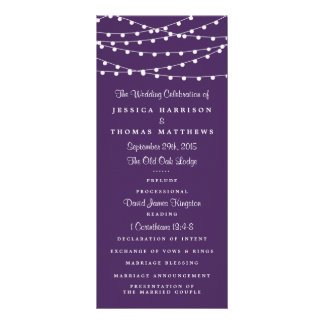 The String Lights On Purple Wedding Collection Rack Card