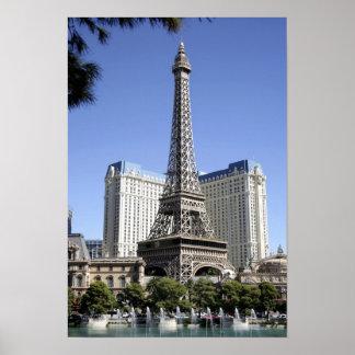 The Strip, Paris Las Vegas, Luxury Hotel Poster