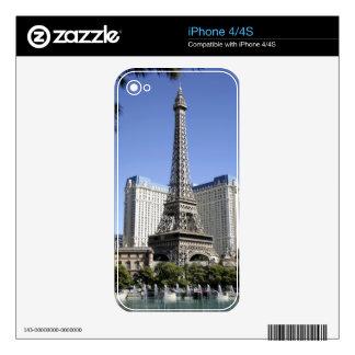 The Strip, Paris Las Vegas, Luxury Hotel iPhone 4 Decals