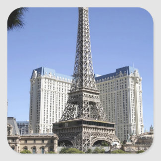 The Strip, Paris Las Vegas, Luxury Hotel Square Sticker