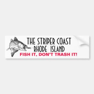 THE STRIPER COAST, RHODE ISLAND BUMPER STICKER