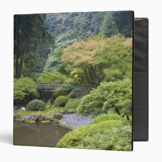 The Strolling Pond with Moon Bridge 3 Ring Binder