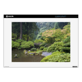 The Strolling Pond with Moon Bridge Laptop Decal