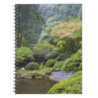 The Strolling Pond with Moon Bridge Spiral Note Books