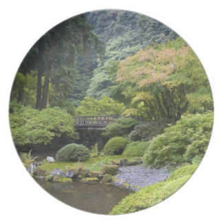 The Strolling Pond with Moon Bridge Party Plate