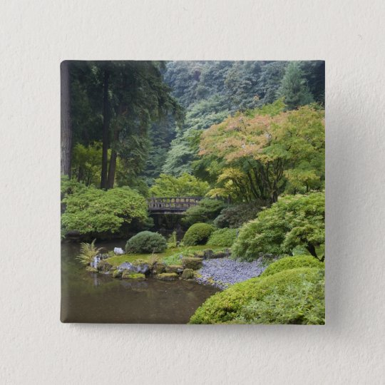 The Strolling Pond with Moon Bridge Pinback Button