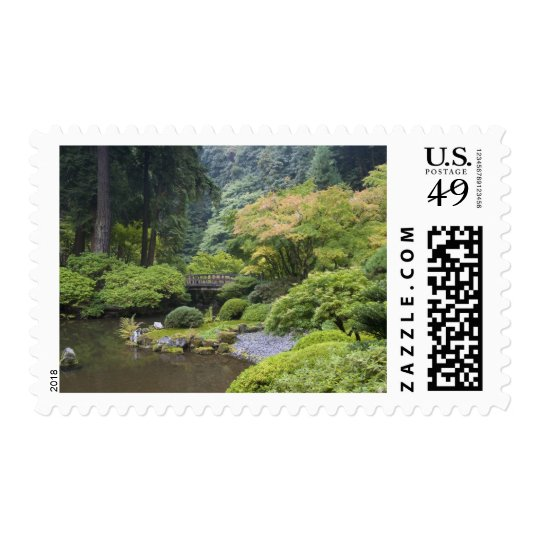 The Strolling Pond with Moon Bridge Postage