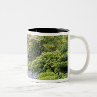 The Strolling Pond with Moon Bridge Two-Tone Coffee Mug