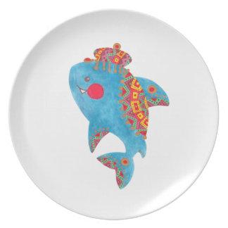 The Strong Shark Melamine Plate