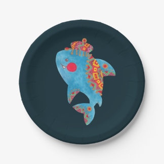 The Strong Shark Paper Plate