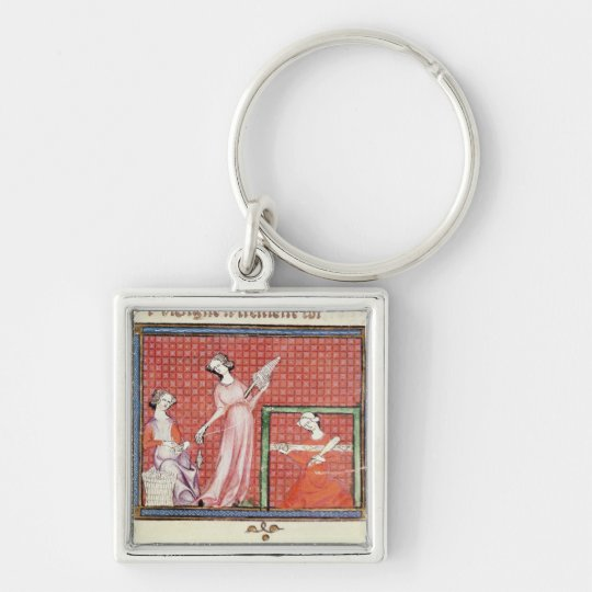 The Strong Woman of the Scriptures Spinning Keychain