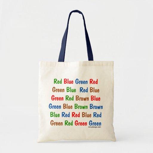 The Stroop Test Budget Tote Bag