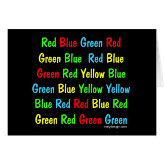 The Stroop Test Greeting Card