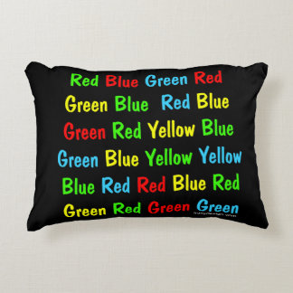 The Stroop Test Decorative Pillow