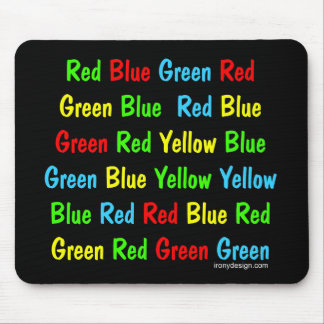 The Stroop Test Mouse Pad