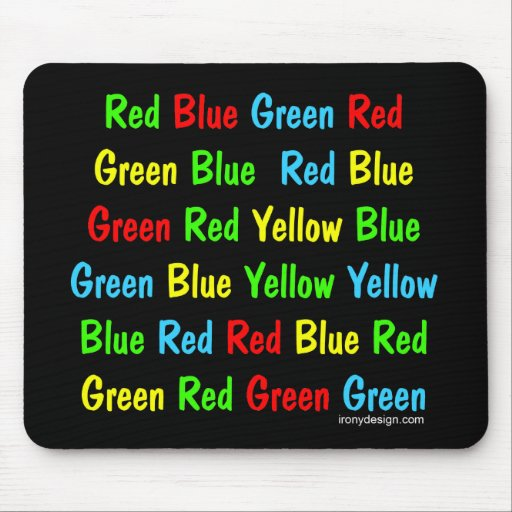 The Stroop Test Mouse Pads