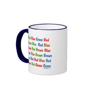 The Stroop Test Ringer Coffee Mug