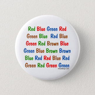 The Stroop Test Pinback Button