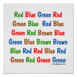 The Stroop Test Poster
