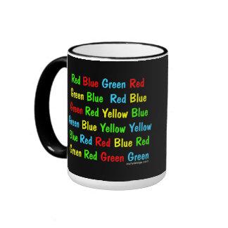 The Stroop Test Poster Ringer Coffee Mug
