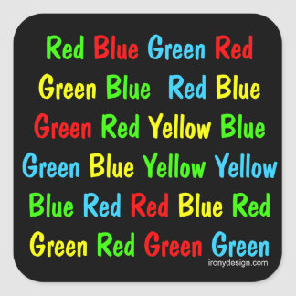 The Stroop Test Poster Square Sticker